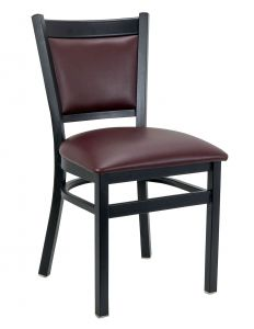 Gino Metal Upholstered Side Chair (Front)