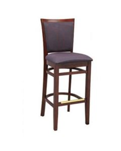 Milan Bar Stool with Upholstered Seat and Back