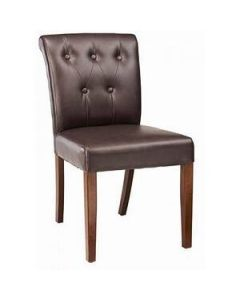 Fully Upholstered Side Chair with Tufted Back (front)