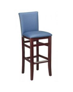 Fully upholstered Magnolia Bar Stool with Nailhead Trim (front)