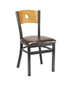 Bullseye Back Metal Side Chair