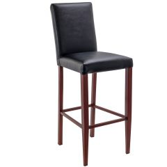 Fully Upholstered Bellini Wood Look Metal Barstool (front)