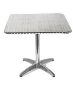Aluminum Square Topped Table