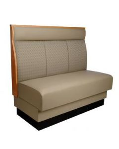 Three Channel Back Wood Trim Booth with headroll