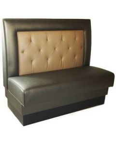 Square Back Tufted Booth