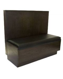 Classic Solid Wood Booth with Pad Seat