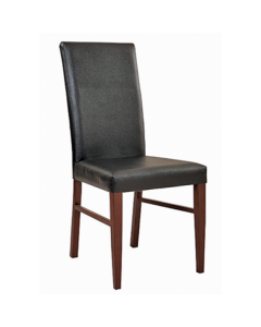 Bellini Wood Look Metal Dining Fully Upholstered Chair (front)
