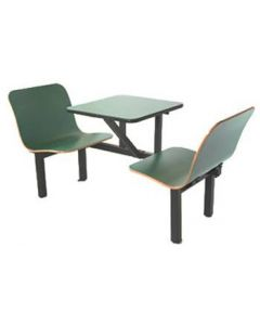 2 Seat Wall Style Contour Booth in Green
