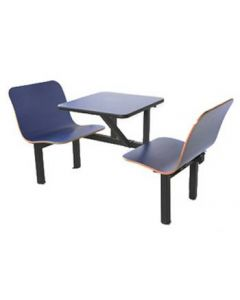 2 Seat Wall Style Contour Booth in Blue