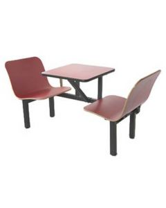 2 Seat Wall Style Contour Booth in Red