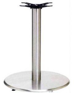 Round Silver Powder Coated Aluminum Table Base