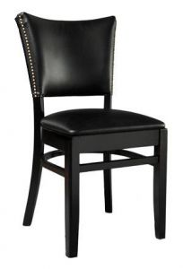 Classic Upholstered Back and Seat Side Chair