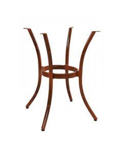 Bamboo Look Aluminum Outdoor Table Base