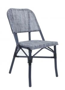 Aluminum Frame with Charcoal Look Outdoor Chair (Front)