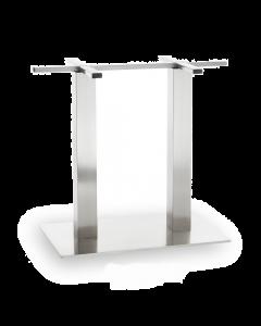 Brushed Stainless Steel Rectangular Table Base