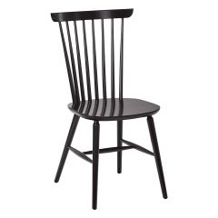 Solid Beech Wood Spindle Back Chair in Black