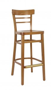 Small Ladderback Barstool in Cherry (Front)