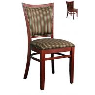 Fully Upholstered Lattice Side Chair with Nailhead Trim