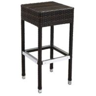 Aluminum & PE Weave Patio Backless Barstool