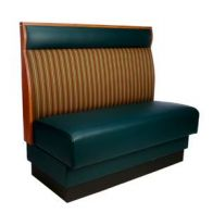Basic Style Wood Panel Booth With Headroll