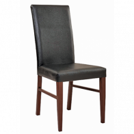 Bellini Wood Look Metal Dining Fully Upholstered Chair
