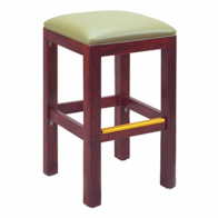 Italian Square Backless Barstool with Lip Seat