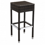 Synthetic Backless Wicker Outdoor Restaurant Bar Stool