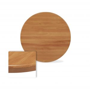 "Solid Beechwood Round Dining Table Top in Cherry (24"")"
