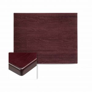 "Solid Beechwood Rectangular Dining Table Top in Dark Mahogany (24""X 42"