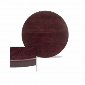 "Solid Beechwood Round Dining Table Top in Dark Mahogany (24"")"