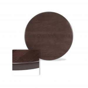 "Solid Beechwood Round Dining Table Top in Walnut (24"")"