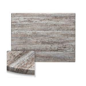 "Werzalit Reclaimed Wood Rectangular Outdoor Dining Table Top (24"" x 30"")"