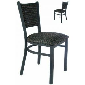Cross-back Fully Upholstered Metal Chair