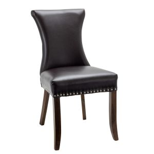 Fully Upholstered Padded Vinyl Regal Commercial Dining Chair with Nailhead Trim on Hour-glass Back (Front)