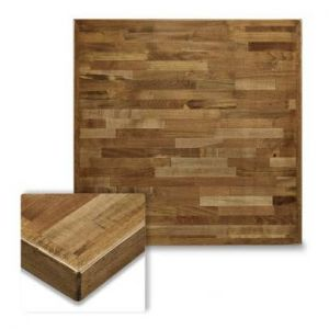 Butcher Block Mixed Wood Indoor Square Dining Table Top in Urban Maple Finish (24