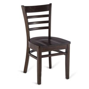 Walnut Wood Ladderback Commercial Chair with Solid Beechwood Seat