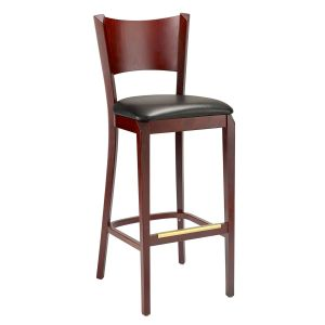 Empire Upholstered Bar Stool in Walnut (Front)