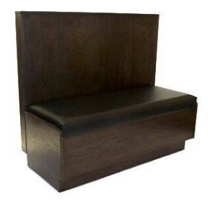 Classic Style Solid Wood Restaurant Booth with Padded Seat