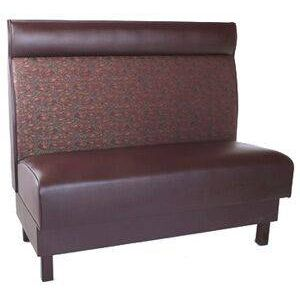 Sienna Upholstered Restaurant Booth with Headroll and Wood Legs