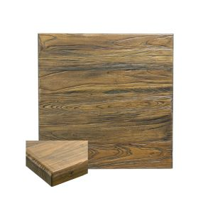 "Reclaimed Elm Wood Square Dining Table Top (24"" x 24"")"