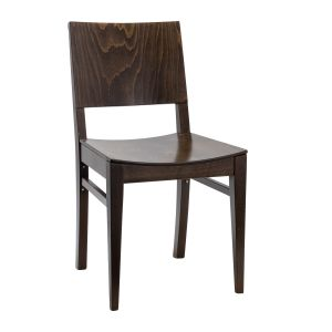 Walnut Wood Commercial Chair with Veneer Seat and Back (Front)