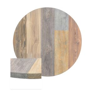 Multicolored High-Density Composite Round Rustic Tabletop (42