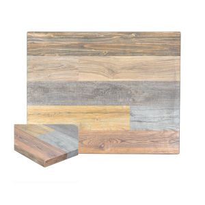 Multicolored High-Density Composite Rectangular Rustic Tabletop (30