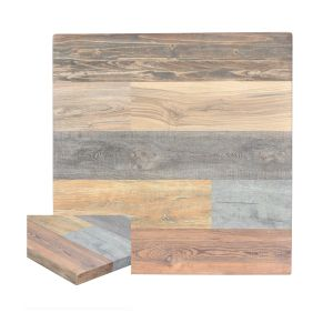 Multicolored High-Density Composite Square Rustic Tabletop (36
