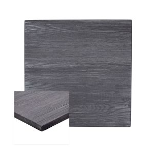 Pewter High-Density Composite Square Rustic Tabletop (36