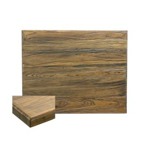 "Reclaimed Elm Wood Rectangular Dining Table Top (24"" x 42"")"
