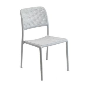 Bistro Stackable Outdoor Chair in Off White (Front)