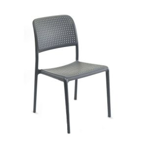 Bistro Stackable Outdoor Chair in Light Grey (Front)