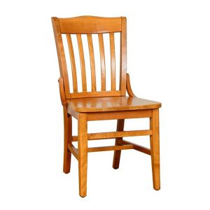 Cherry Schoolhouse Chair with Solid Wood Saddle Seat (Front)