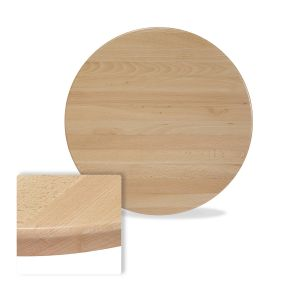 """Solid Beechwood Round Dining Table Top in Natural (30"""")"""